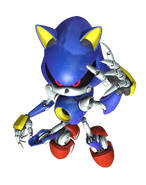 Metal Sonic Rivals 2 art