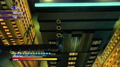 Sonic Unleashed (PS3) Empire City Skyscraper Scamper Night Act 1 S-Rank