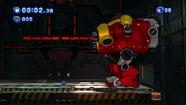 El Death Egg Robot comenzando su batalla con Sonic clasico
