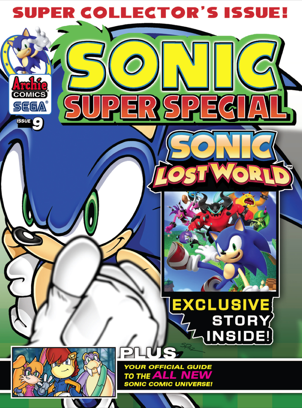 Archie Sonic Super Special Magazine Issue 9 Sonic News