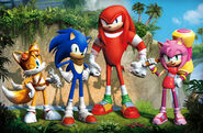Sonic Boom's main cast (First Artwork)