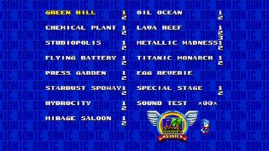 Sound Test en Sonic Mania