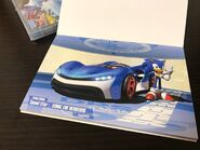 TeamSonicRacing Postcard Sonic