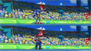 Mario & Sonic at the Rio 2016 Olympic Games - Sonic VS Mario Javelin Throw
