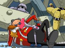 Eggman dostaje buziaka