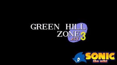 Sonic the Hedgehog (1991) - Green Hill Zone, Akt 3