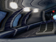 Tails spaceship interior