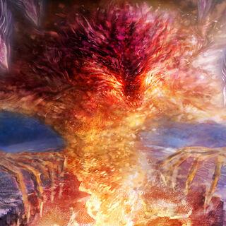 Arte conceptual de Dark Gaia en el opening de <i>Sonic Unleashed</i>.