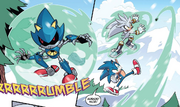 IDW 14 Silver i Sonic vs Metal