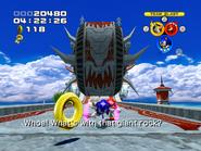 Kao chasing Team Sonic