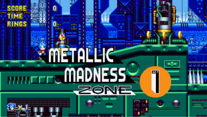 Metalic Madness Sonic Mania Card