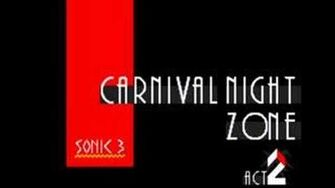 Sonic 3 Music Carnival Night Zone Act 2
