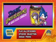 Sonic Underground DVD Queen Aleena Chronicles Menu