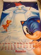 Sonic 1994 Official Calendar EU Dec