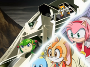 Tails, Amy, Cosmo, Cream