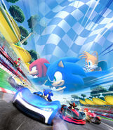 Team Sonic Racing key art only