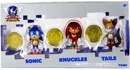 Tomy Sonic 25th Anniversary figure 3 Pack Sonic Knuckles Tails