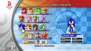 Character Select (Mario & Sonic 2008)