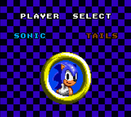 Sonic Chaos MS menu 1