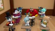 Villains staring at Eggman