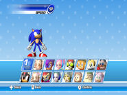 SEGA Superstars Tennis Character Select