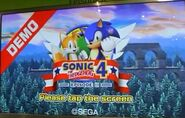 Sonic 4 Demo Screen
