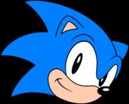 Classic Sonic happy