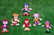 Sonic the Fighters keychain plushies