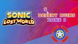 Desert Ruins Zone 3 - Sonic Lost World