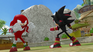 Knuckles vs Shadow