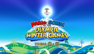 Mario Sonic Olympic Winter Games Title Screen
