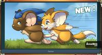 Sonic y Tails en Transformice