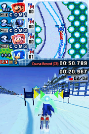Mario Sonic Olympic Winter Games Gameplay DS 004