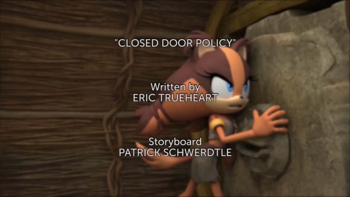 Closed Door Policy Title Card