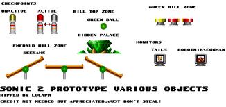 Genesis 32X SCD - Sonic the Hedgehog 2 - UnusedEarly Objects