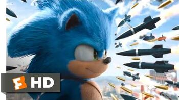 Sonic the Hedgehog (2020) - Rooftop Missile Chase Scene (8 10) Movieclips