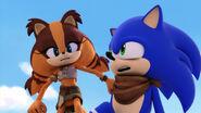 SB S1E02 Sticks waking up Sonic