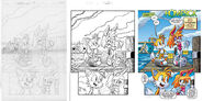 Sonic 281 page 1 pencils to colors by chibi jen hen-da2mzvy