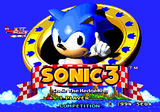 File:Title Screen - Sonic the Hedgehog 3.png