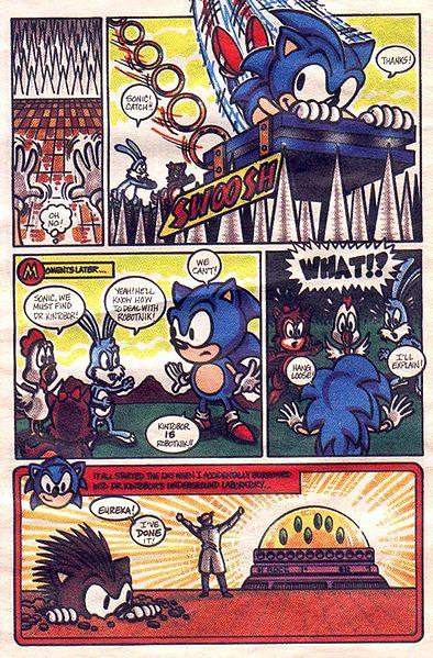 Sonic The Hedgehog Promotional Comic Sonic News Network Fandom