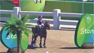 Mario & Sonic at the Rio 2016 Olympic Games - Waluigi Equestrian