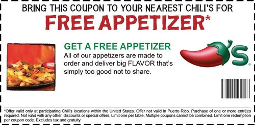 Chilis coupon