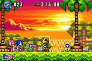 Gemerl vs sonic y amy en sunset hill