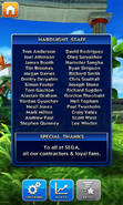 Sonic Dash Credits