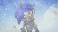 Sonic nervous smile in blizzard