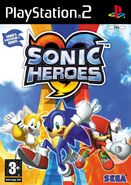 SonicHeroes PS2 UK Cover