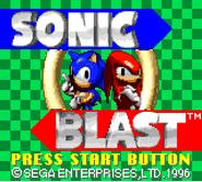 Sonic Blast title screen