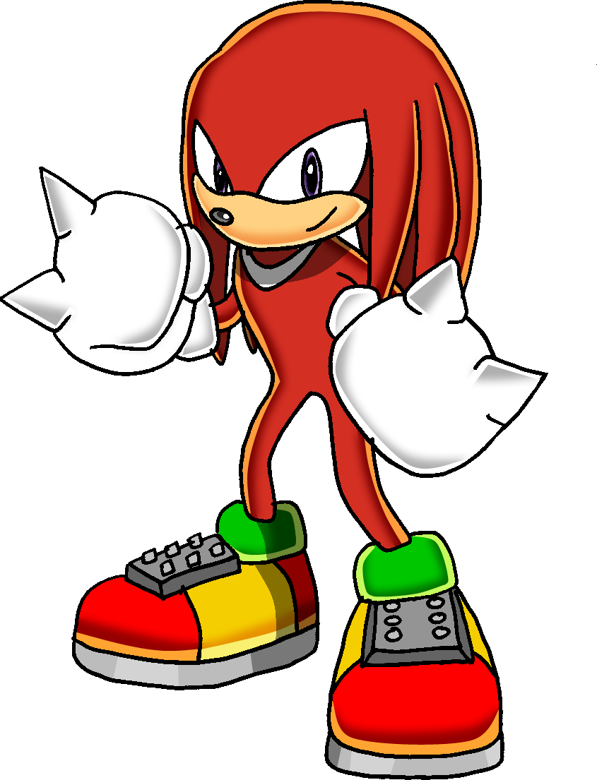 How To Draw Knuckles From Sonic Boom