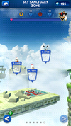 Sonic Dash Sky Sanctuary Zone ruined