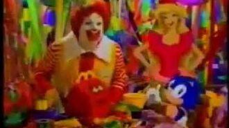 Sonic McDonald's Commercial Happy Birthday Happy Meal 1994
